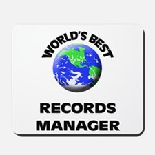 World's Best Records Manager Mousepad