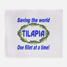 Spectacular Tilapia Ellipse Throw Blanket