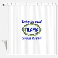 Spectacular Tilapia Ellipse Shower Curtain