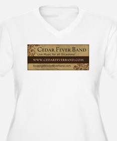 Cedar Fever Banner Plus Size T-Shirt