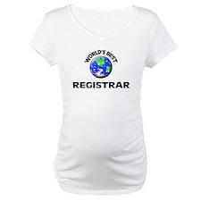 World's Best Registrar Shirt