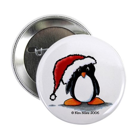 Christmas Penguin II Button