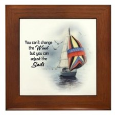 You Cant Change the Wind.png Framed Tile