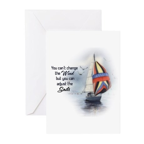 You Cant Change the Wind.png Greeting Cards (Pk of