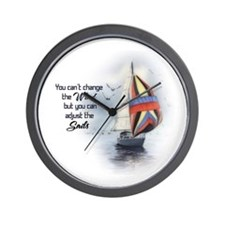 You Cant Change the Wind.png Wall Clock