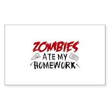 Zombie Ate My Homework Decal