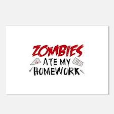 Zombie Ate My Homework Postcards (Package of 8)
