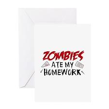 Zombie Ate My Homework Greeting Card
