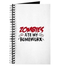 Zombie Ate My Homework Journal