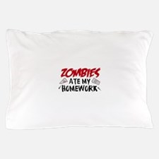 Zombie Ate My Homework Pillow Case