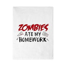 Zombie Ate My Homework Twin Duvet