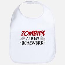 Zombie Ate My Homework Bib
