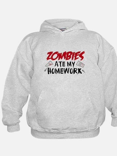 Zombie Ate My Homework Hoody