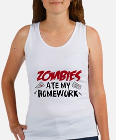 Zombie Ate My Homework Women's Tank Top