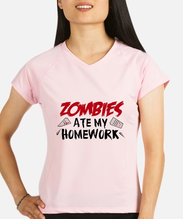 Zombie Ate My Homework Performance Dry T-Shirt