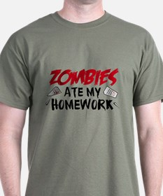 Zombie Ate My Homework T-Shirt