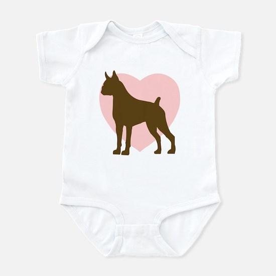 Boxer Heart Infant Bodysuit