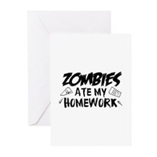Zombie Ate My Homework Greeting Cards (Pk of 10)