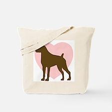 Boxer Heart Tote Bag