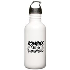 Zombie Ate My Homework Water Bottle
