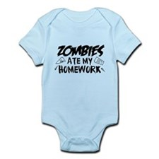 Zombie Ate My Homework Infant Bodysuit
