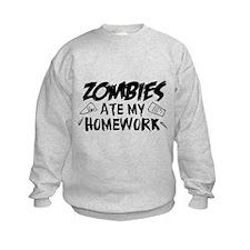 Zombie Ate My Homework Sweatshirt
