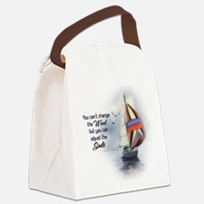 You Cant Change the Wind.png Canvas Lunch Bag