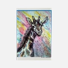 Giraffe, wildlife art! Rectangle Magnet