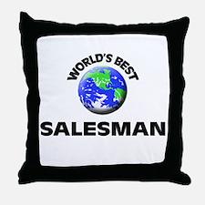 World's Best Salesman Throw Pillow