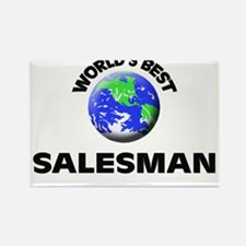 World's Best Salesman Rectangle Magnet
