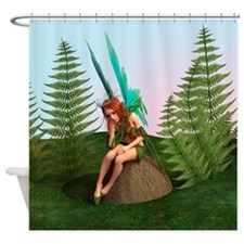 Thoughtful Fairy Shower Curtain