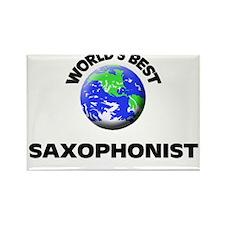 World's Best Saxophonist Rectangle Magnet