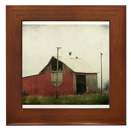 Vultures and the Barn Framed Tile