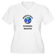 World's Best School Nurse Plus Size T-Shirt