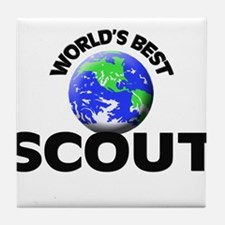 World's Best Scout Tile Coaster