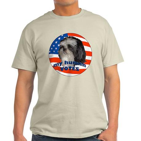 Shih Tzu with American Flag T-Shirt