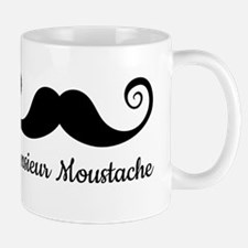 Monsieur Mustache design with curly moustache Mug