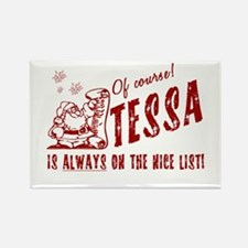 Nice List Tessa Christmas Rectangle Magnet