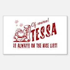Nice List Tessa Christmas Rectangle Decal