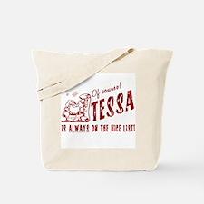 Nice List Tessa Christmas Tote Bag