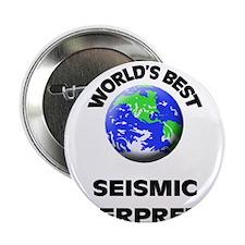 """World's Best Seismic Interpreter 2.25"""" Button"""