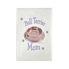 Bull Terrier Mom Rectangle Magnet