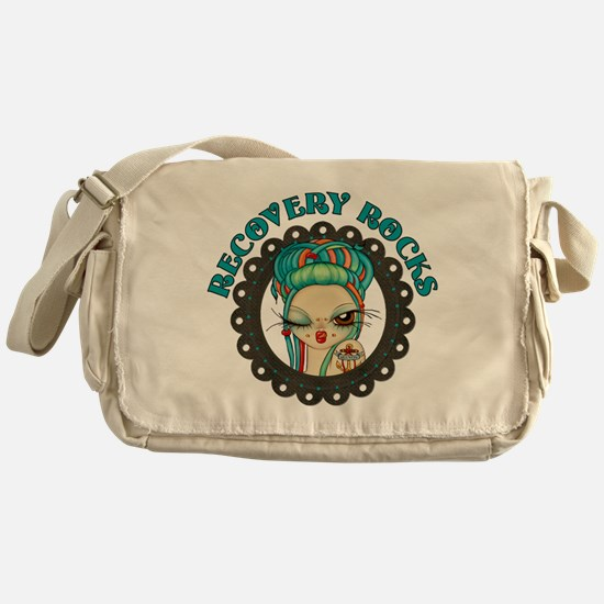 Recovery Rocks~2000x2000.png Messenger Bag