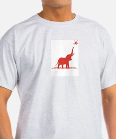 Red Elephant / Reach for the Stars Ash Grey Tee