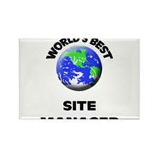 World's Best Site Manager Rectangle Magnet