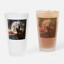 howl at the moon Drinking Glass