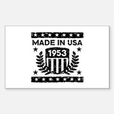 Made In USA 1953 Decal