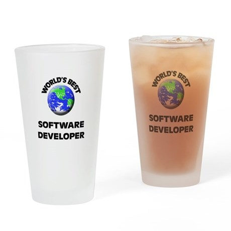 World's Best Software Developer Drinking Glass