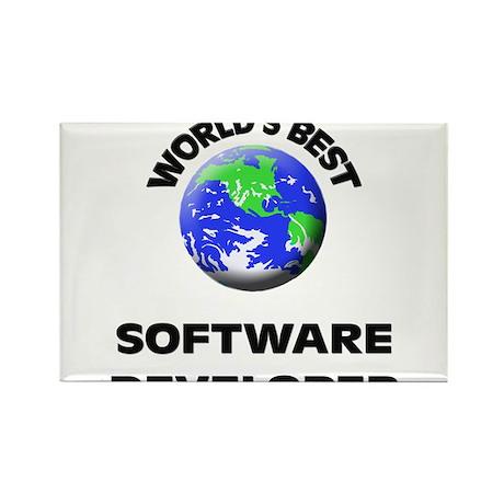 World's Best Software Developer Rectangle Magnet