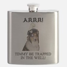 Pirate Collie Flask